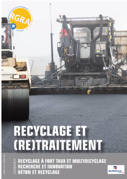 Réalisation par Eurovia des 1er enrobés recyclés sur la section courante du COS