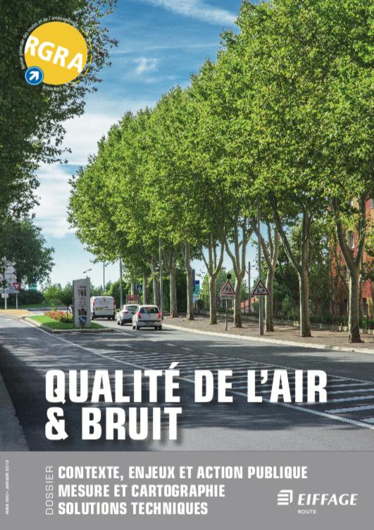 Utilisation du Nanophone®, revêtement urbain limitant les émissions de bruit - Avenue de la Patrouille-de-France à Salon-de-Provence.