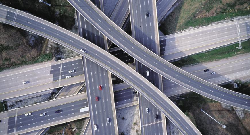 L'autoroute D4, au Texas (États-Unis).