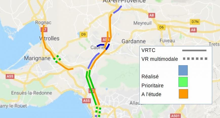 Perspectives de développement des voies réservées sur autoroute dans la période du CPER 2015-2020.
