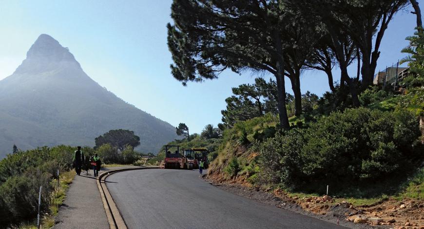 Après rénovation, Camps Bay Drive est plus large de 1,4 m et offre une meilleure sécurité compte tenu du trafic en constante croissance.