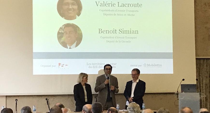 Lancement du colloque par Valérie Lacroute, députée de la Seine-et-Marne, et Benoît Simian, député de la Gironde.