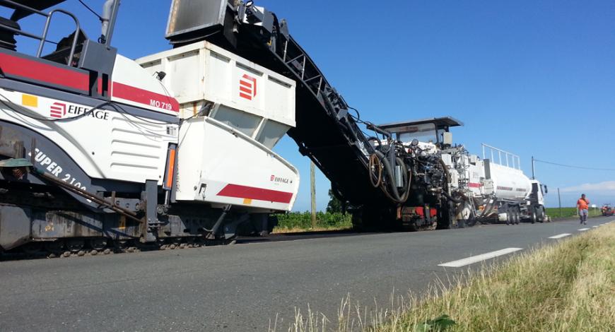 Chantier expérimental Recytal-ARM sur la RD 670 en Gironde (33).