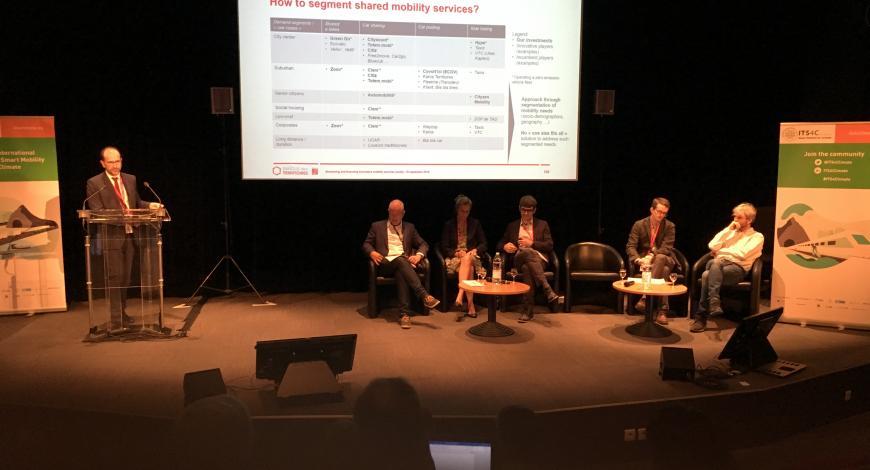 Pierre Auboin (Caissse des dépôts) présente les objectifs relatifs à la mobilité de la Banque des territoires.
