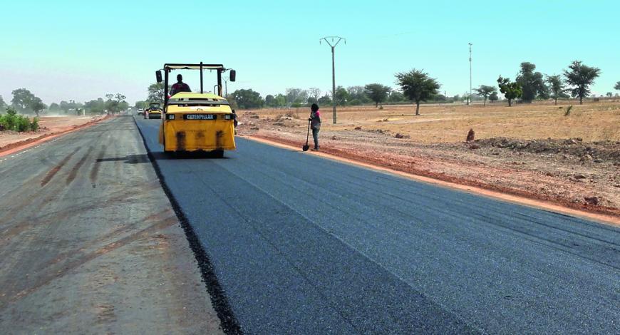 Réhabilitation de la RN5 entre Passy et Sokone au Sénégal.