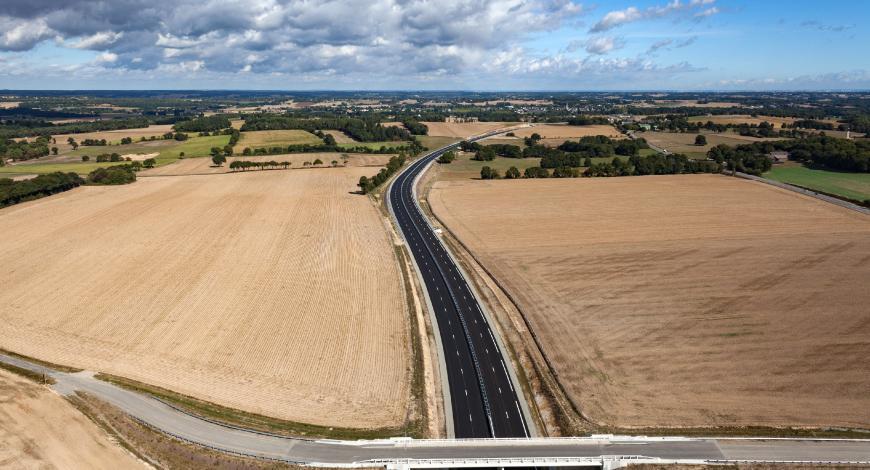 Mise à 2 x 2 voies de la RD 177 en Ille-et-Vilaine.