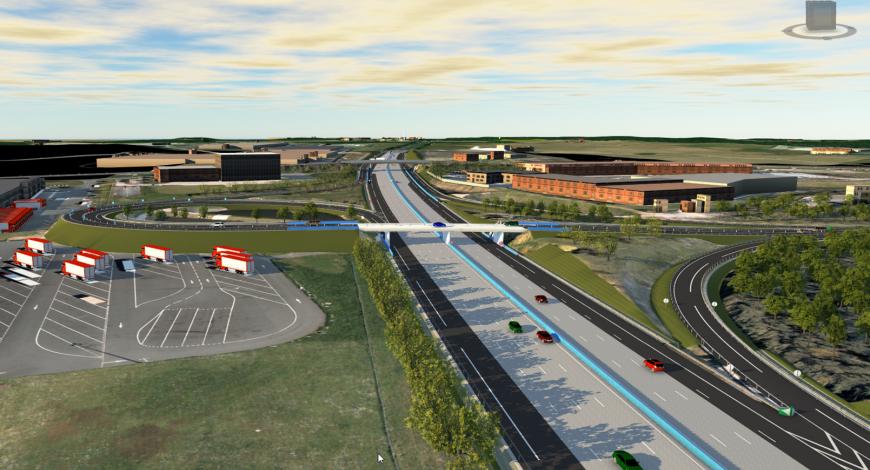 Maquette animée réaliste – Projet A10 Orléans.