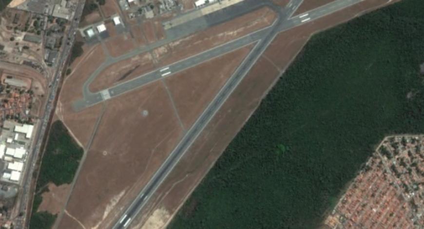 Vue aérienne de l'aéroport de São Luis au Brésil.