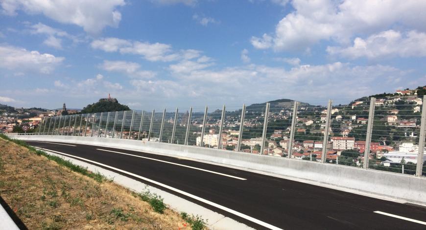 Rn 88 : Contournement du Puy- en-Velay – Écrans transparents en PMMA sur GBA élargie.