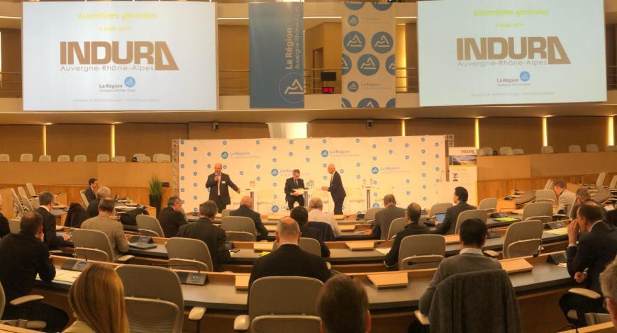 L'assemblée générale d'Indura au sein du conseil régional Auvergne-Rhône-Alpes, le 8 mars 2019.