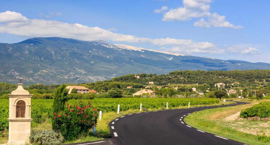 Réfection de la route d'accès au mont Ventoux, dans le Vaucluse.