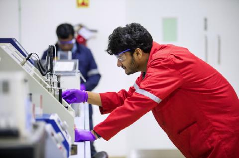 Le centre de R & D de Shell à Bangalore, en Inde.
