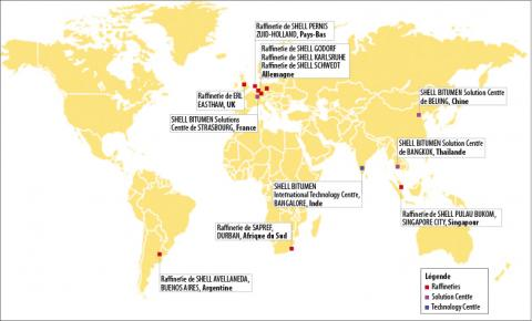 Shell Bitumes : une envergure mondiale, une présence locale.