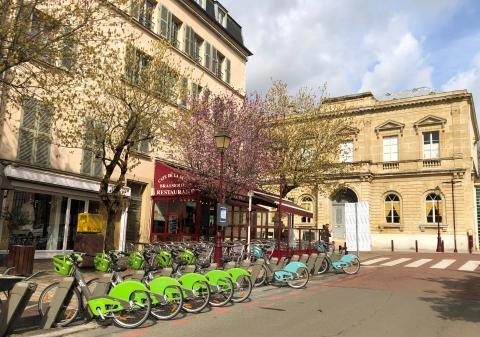 Station Vélib' à Sceaux.