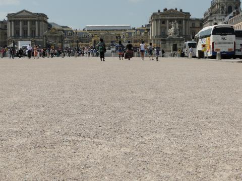 Héliocol sur le parvis du château de Versailles.