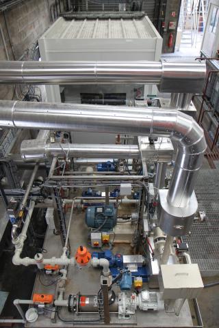 Groupe d'émulsification de liants clairs à l'usine LMS (liants modifiés et de spécialités) de Colas Midi Méditerranée.