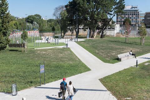 Espace fitness dans le nouveau quartier Saint-Serge à Angers.