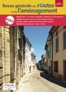 Vue de la rue principale du Haut-Livron (Drôme), au centre de la moyenne vallée du Rhône.