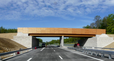 Pont mixte bois-béton – déviation Amblans-Lure (Haute-Saône).