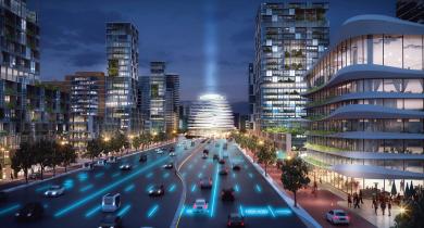 L'étude urbaine d'UNStudio sur l'autoroute néerlandaise A10, ceinture périphérique d'Amsterdam.