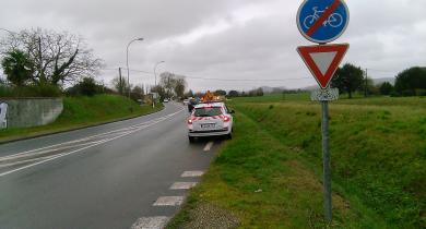 Inspection de sécurité routière sur la RD 911.