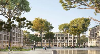 Projet d'aménagement de la ZAC du Mas Lombard, à Nîmes, par Eiffage Aménagement.