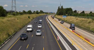 Réhabilitation de l'A6 (Essonne) en 2015 après 45 années de service.