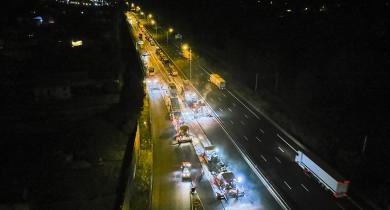 Chantier sur l'autoroute A10.