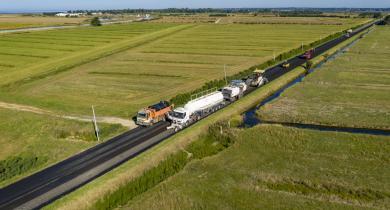 Chantier de la RD 758, à Villeneuve-en-Retz, en Loire-Atlantique.