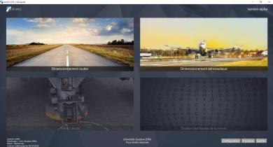 Interface d'accueil du logiciel Alizé2®.