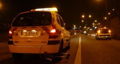 Mesures CPX de nuit sur le boulevard périphérique parisien.