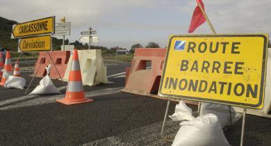 Route inondée : un des impacts possibles sur les déplacements.
