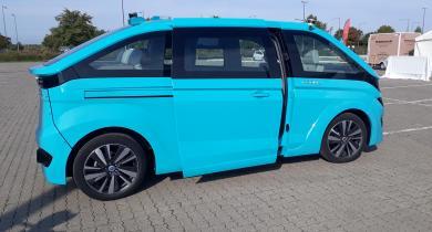 Vers de nouveaux types de véhicules : l'Autonomous Cab Navya en démonstration.