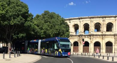 Projet d'une seconde ligne de BHNS pour renforcer le réseau de transport collectif à Nîmes