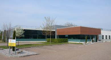 Le centre technique de Shell Bitumes, à Illkirch.