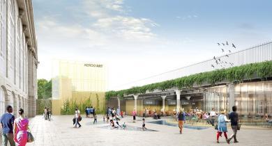 La future gare des Invalides