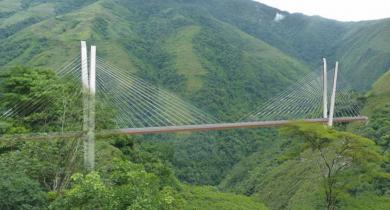Le pont haubané de Chirajara en Colombie sera signé Eiffage.